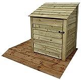 Arbor <span class='highlight'>Garden</span> Solutions <span class='highlight'>Wooden</span> Log Store With Door 4Ft (1 cubic meter capacity) (W-99cm, H-126cm, D-81cm) (Light Green (Natural))