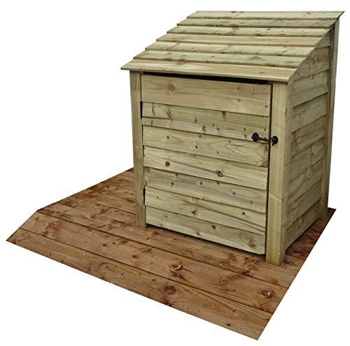 Arbor Garden Solutions Wooden Log Store With Door 4Ft (1 cubic meter capacity) (W-99cm, H-126cm, D-81cm) (Light Green (Natural))