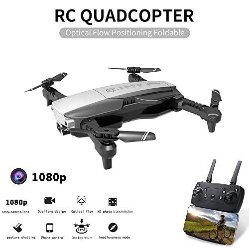 Drone Met Camera 4K Wifi FPV Optische Stroompositionering Gebaar Foto Opvouwbare RC Drone Quadcopter Remote Toy, Eenvoudige Bediening, Kan Het Geschenk Van Uw Kind Zijn,Black,1080p