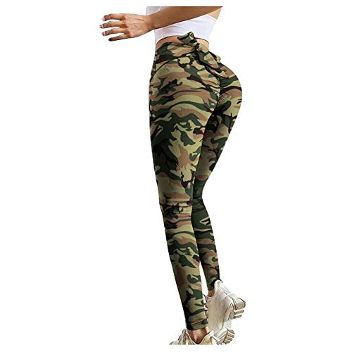 BAIDEFENG Running Training Estiramiento,Leggings Estampados, Sexy Pantalones de Yoga de Cintura Alta-A_XXL,Fitness Jogging Leggins