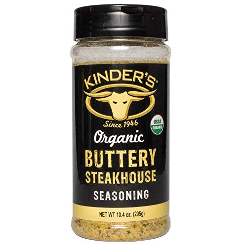 Kinder's Organic Buttery Steakhouse Seasoning Rub 10.4 Ounce