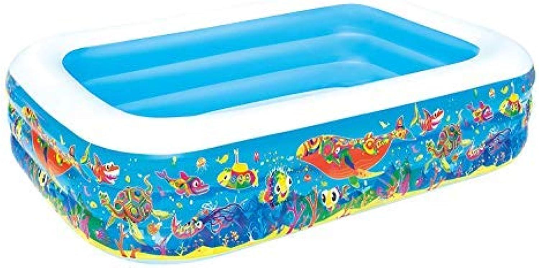 Bestway Rechteckig Schwimmbad Aufblasbar Planschbecken Play Pool Kinder Aufblasbarer Garten Sommer Spa