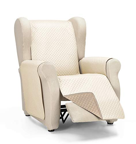 Martina Home Cubre Sofa Acolchado Diamond, Beige/Cuero, 1 Plaza/Relax