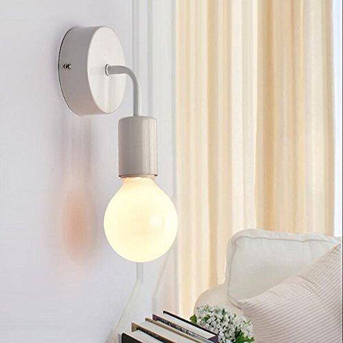 OOFAY LIGHT Mini lampada da parete 1luce semplice e moderno design ferro classico Lampada da parete Corridoio cucina salotto camera da letto lechten h17cm lampada E27max 40W bianco