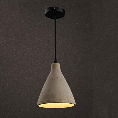 Lámpara colgante industrial retro, lámpara colgante de resina y cemento para mesa...