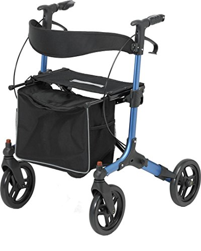 Days Pulse Rollator, Blue, Lightweight Aluminum, Quick Release Front Wheels, Kerb Climbers, Folidng, Adjustable, Durable, and Made For Handicapped and Disabled (Eligible for VAT exemption in the UK)