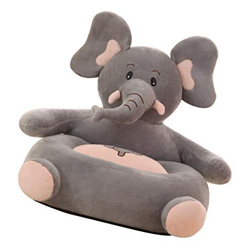 B Blesiya Sedia per Bambini Poltroncina in Peluche Fodera Beanbag Arredamento Interno - Elefante