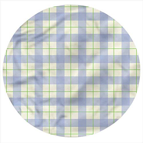LCGGDB Checkered Flannel Throw Blanket,Classical Celtic Tile Baby Blanket Newborn Swaddle Blanket for Crib or Stroller, Round 31.5 Inches