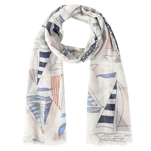 Maritimer Trend-Schal aus Baumwolle und Viskose