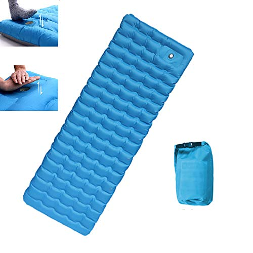 nonbrand Self Inflating Camping Pads Thick 4.7 Inch Lightweight Camping Sleeping Pad Ultralight,Compact, Waterproof PVC Inflatable Mat for Tent, Hiking and Backpacking
