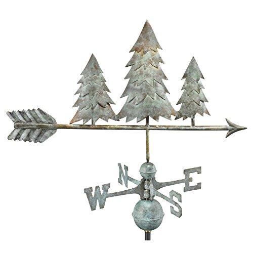 Good Directions 625 V1 Pine Trees Girouette, Bleu Verde en cuivre