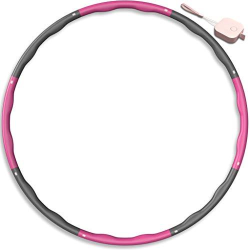 MPIO Hula Reifen Hoop für Fitness/Sport/Zuhause/BüRo/Bauchformung,8 abnehmbare Teile zum Einstellen der Breite des Hula Reifen Hoops,Hoola Hoop 1,2 kg Geeignet für Erwachsene/Kinder,mit Mini-Maßband