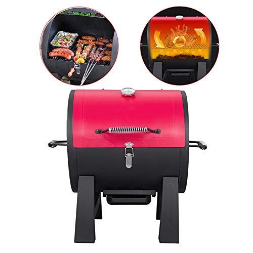 YXYLD Mini BBQ Grill, Kleine Ronde Oven Met Deksel Draagbare Outdoor Barbecue Voor Barbecues Voor Meer dan 6 Personen Camping Oven Voor Camping/Picnic Zwart