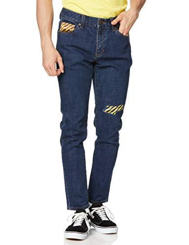 [ゲス] ジーンズ [GUESS x GENERATIONS] TRIANGLE LOGO DENIM PANTS メンズ インディゴブルー 日本 28 (日...