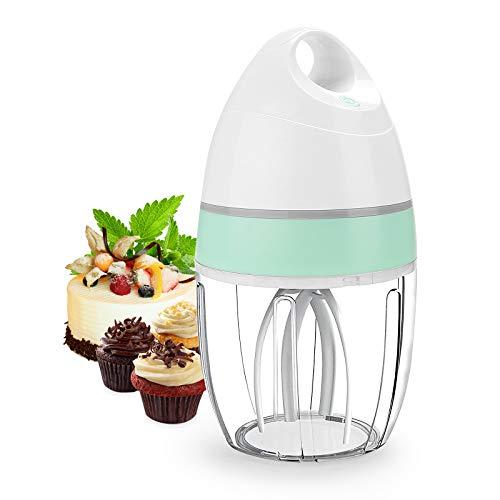 Mini amasadora eléctrica, batidor eléctrico de cocina portátil para mezclar huevos, nata, dulces, ratones, etc. Recipiente desmontable de 900 ml, robot de cocina automático recargable, Stand Mixer-IT