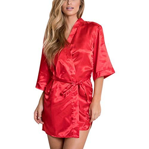Vectry Pijama Entero Mujer Pijamas De Mujer Sexy Conjunto De Pijama Mujer Camisones Sexys Mujer Combinación Mujer Ropa Interior Lenceria Sexy Mujer Pijamas Rojo