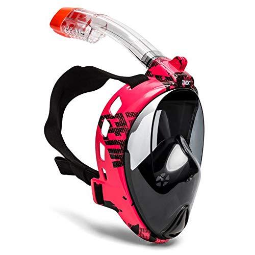 FACAI Mascara Buceo Decathlon Mascara De Buceo Snorkel Cara Completa Escafandra Buceo Mascarillas De Buceo,Red-S M