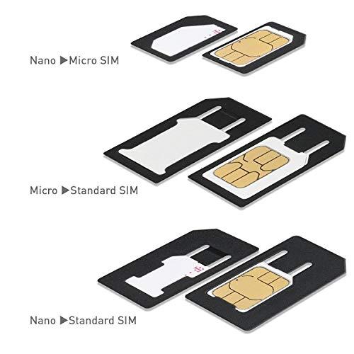 Wicked Chili Dual Sim Stanze und 4in1 Sim Karten Adapter Set (Nano, Micro, Standard, Eject Pin) für Handy, Smartphone und Tablet - 6