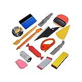 XiaoG Pegatinas de automóvil calcomanías de estilismo kit de herramientas de vinilo envoltura imán de la ventana de la ventana de la ventana de la ventana de fibra de carbono Corte de la película Herr