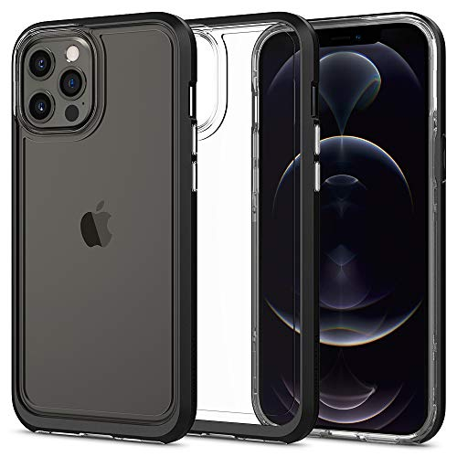 Spigen Funda Neo Hybrid Crystal Compatible con iPhone 12 Pro MAX - Negro