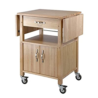 Winsome Wood Drop-Leaf Kitchen Cart by Winsome Wood