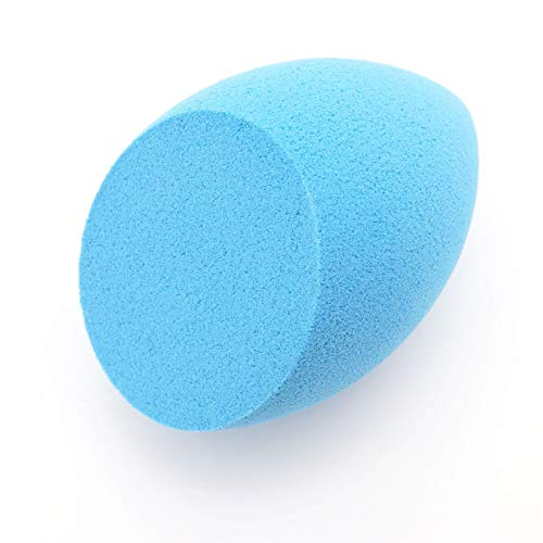 MXECO Large Oblique Cutting Make Up Tools Maquillage Éponge Puff Beauty Foundation Cosmetic Puff Make Up Sponge (bleu clair)