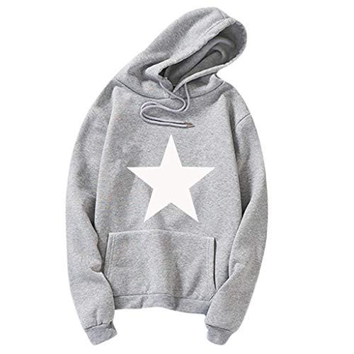 CCIKun Herren Langarm Kapuzenpullover Pullover Mode Männer Slim Fit Herbst Winter Hoodie Sweatshirt Sweatjacke mit Tasche Skate Streetwear S-3XL (Grau,XXXL)