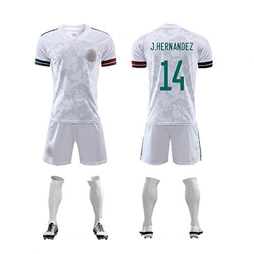FDSEW Ropa Deportiva de fútbol para Adultos para niños Euro 2020 Equipo de México No. 13 Ochoa No. 22 Camiseta de H. Lozand Uniformes de fútbol Personalizados para el hogar 20 No.14