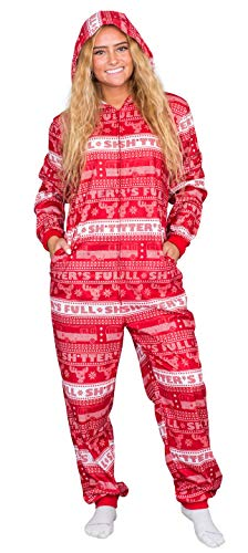 National Lampoon's Christmas Vacation Shitter's Full Pajama Union Suit (Adult Large) Red