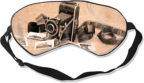 Video Camera Print Comfortable Soft Best Sleeping Eyeshade * with Adjustable Strap for Travel Work Naps Blocks Light-Old Camera Print-One Size100% Silk Sleep Mask Eye Mask
