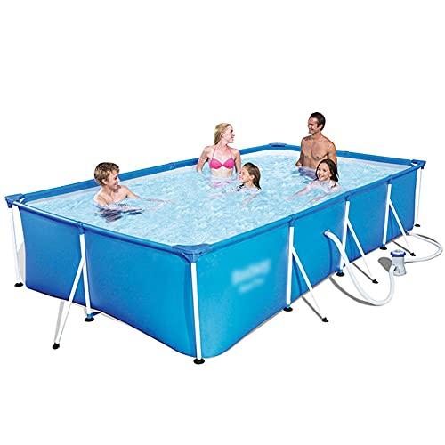 CMAO Hogar para Adultos y niños Piscina Engrosada, Material de PVC Piscina para niños en el Patio Trasero de la Familia-8.5 * 5.6 * 2 pies_Azul