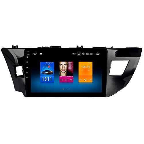 Dasaita 10.2' Android 9.0 Car GPS Navigation for Toyota Corolla 2014 2015 2016 2017 Altis Axio with Octa Core 4GB and 32GB Auto Radio Multimedia Stereo