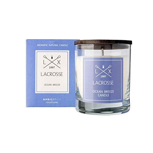 Lacrosse. Duftkerze mit Meeresbrise. Kerze mit pflanzlichem Wachs und natürlichem Parfüm parfümiert, mit einer geschätzten Dauer von 40 Stunden. Genießen Sie die Aromatherapie in Ihrem Zuhause