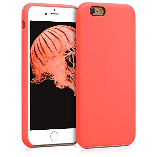 kwmobile Cover Compatibile con Apple iPhone 6 / 6S - Cover Custodia in Silicone TPU - Back Case Protezione Cellulare Corallo Vivo