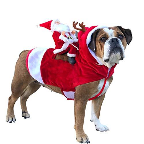 Etophigh Santa Christmas Dog Pet Kostüme, Cosplay Outfit für Weihnachten Hunde Kostüme Bekleidung Party Dressing Up Kleidung für kleine, große Hunde