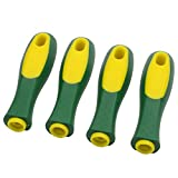 ASNOMY Ergonomic Rubber File Handle for File or Mills, Round Hole and Rectangular hole, 4-1/3' Length (4 pack)