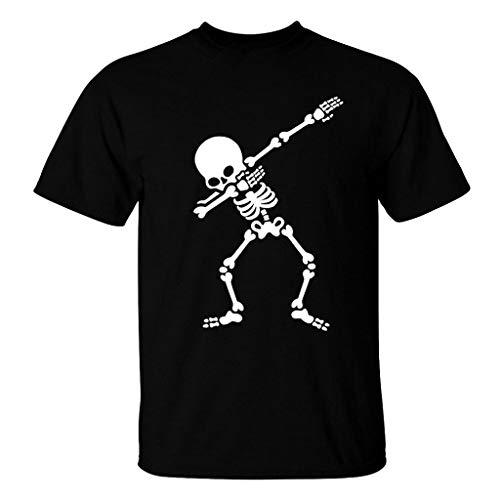 FRAUIT heren schedel print basic T-shirt mode origineel stretch zacht ademend comfortabel party vrije tijd festival kleding blouse tops S-2XL