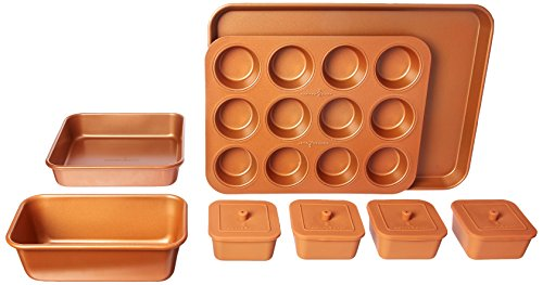 Copper Chef 12-Piece Set Nonstick Oven Bakeware, 12.8 x 5.12 x 18.11 inches