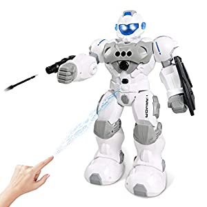 Robot Toy Gesture Sensing Smart Robot Toys for Kids Boys, RC Robot Programmable Intelligent Interactive Toy Gifts for 5…