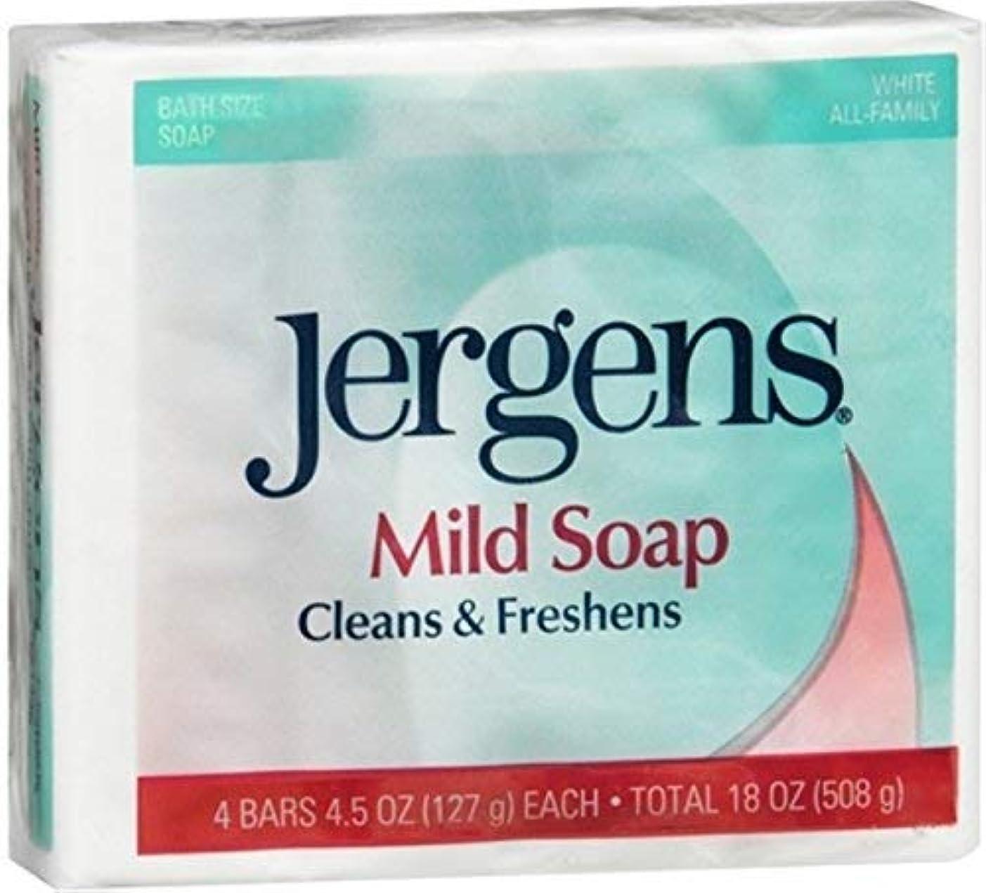 Jergens マイルドソープは4小節、4.5オズ(5パック)クリーン&フレッシュ 5パック
