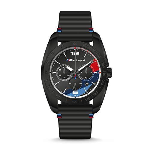 BMW M Motorsport - Orologio da uomo in silicone nero con cronografo, 22 - BMW2001