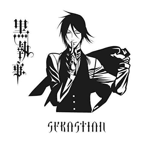 Baobaoshop Pegatina Black Butler Aufkleber Anime Cartoon Sebastian ist Auto Aufkleber Vinyl Wandtattoos Decor Home Decora 45 * 45 cm