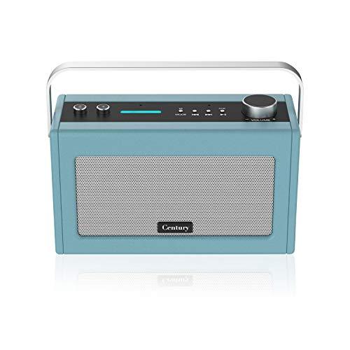 Century Internet Radio- Smart Wi-Fi Speaker with Alexa built-in, Bluetooth, Internet Radio, Smart Home Control, Multi-Room, News and Sport updates (Stone Blue)