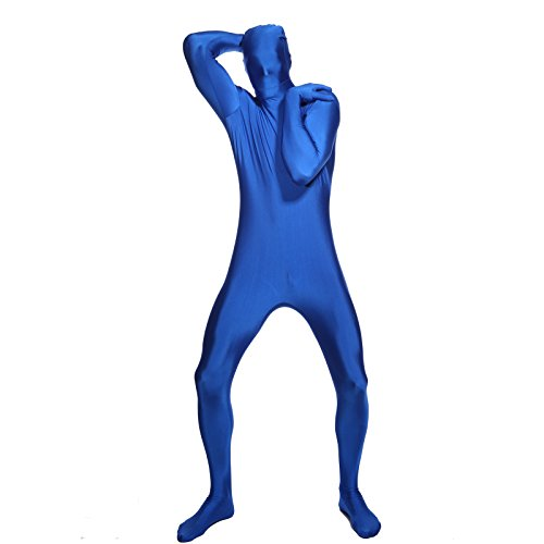 SurePromise One Stop Solution for Sourcing Herren BLAU Zentai Party Gag Ganzkoerperanzug Ganzkoerperkostuem Second Skin Suit Ganzkoerper Kostuem Catsuit