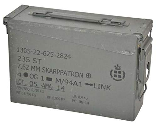 A.Blöchl Originale gebrauchte Munitionskiste Größe 1 der Dänischen Armee Metallkiste Mun-Kiste Werkzeugkiste Metallbox