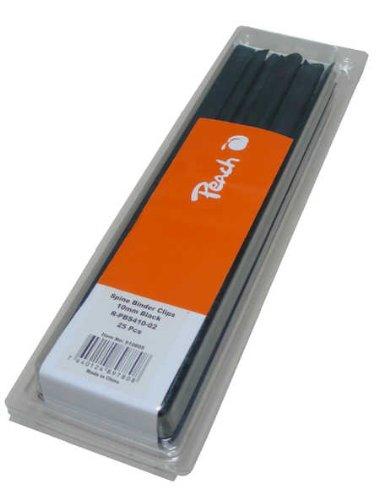 Peach R-PBS410-02 Klemmschienen, DIN A4, 10 mm, 60 Blatt, 25 Stück, schwarz