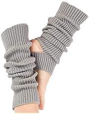 Gebreide Yoga Sokken, Gebreide Been Warmers Vrouwen Winter Warm Gebreide Gehaakte Been Warmers voor Yoga Dansende Oefening Gym Houd Warm Grijs