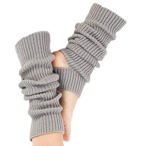 Gestrickt Beinwärmer,Beinwärmer Stricken Beinstulpen für Das Yoga-Tanzen,Das Turnhalle Ausübt,Halten Warm Grau