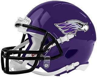 Wisconsin Whitewater Riddell Replica Purple Mini Helmet 'Warhawk Head'
