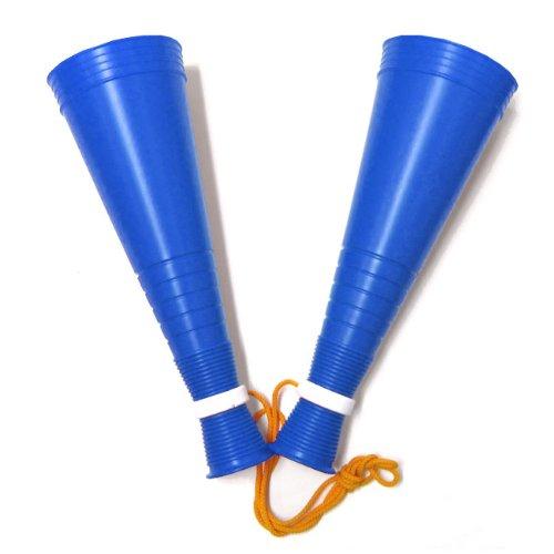 プロモ スリムツインメガホン 30cm 紐付き 日本製 青